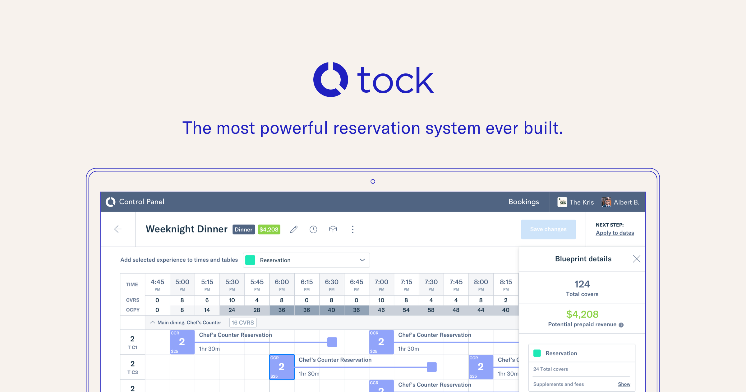 Tock The Most Powerful Reservation System Ever Built - What is open table reservation